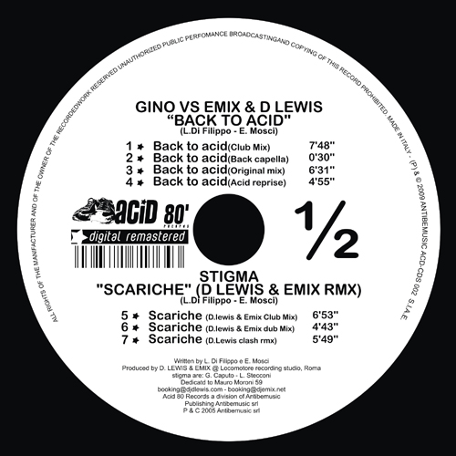 BACK TO ACID/SCARICHE(D.LEWIS & EMIX RMX)